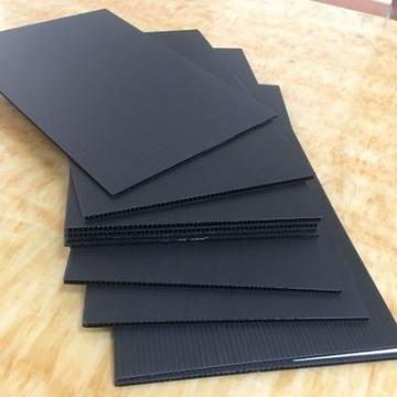 防静电黑色塑料板材货架瓦楞分隔板