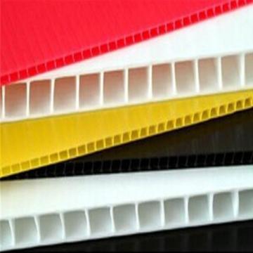 耐酸碱5mm蓝色加硬塑料PP中空板 五金电子塑胶瓦楞板