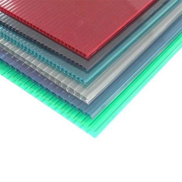 阳光板透明pc耐力板阳台中空空心实心采光板阳光房遮阳采光瓦雨棚 #5 image
